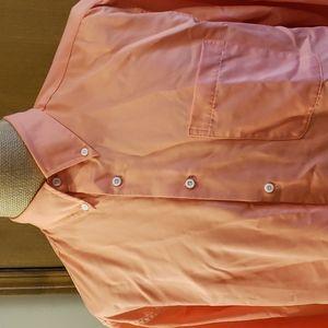 Travelsmith orange lightweight long sleeve shirt